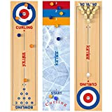 KETIEE 3 in 1 Curling and Shuffleboard Table-Top Game, 120x30cm Tisch Curling Spiel Mini Desktop-Eishockey Bowling Shuffleboard Tischspiel Brettspiele Familienspiele für Kinder Erwachsene