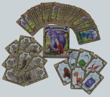 Spielmaterial vom Kartenspiel Mammuz